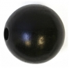 Wooden Bead Round 20mm Black Polished
